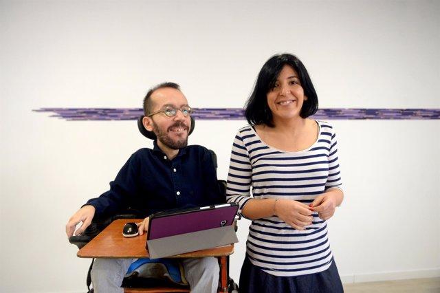 Pablo Echenique e Idoia Villanueva, dirigentes de Podemos