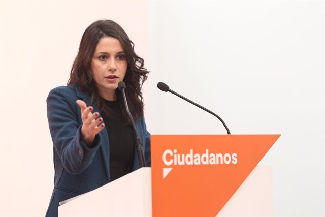 Rueda de prensa de Inés Arrimadas en la sede de Ciudadanos