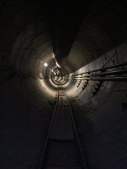 Concepto de túnel para el sistema Hyperloop