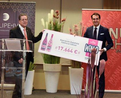 WIN, el vino sin alcohol, entrega a la AECC cerca de 18.000 euros de la recaudación de la campaña