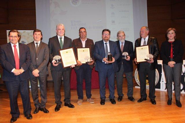 Premios de Calidad y Premios a los Mejores Amigos de la DOP Montes de Granada