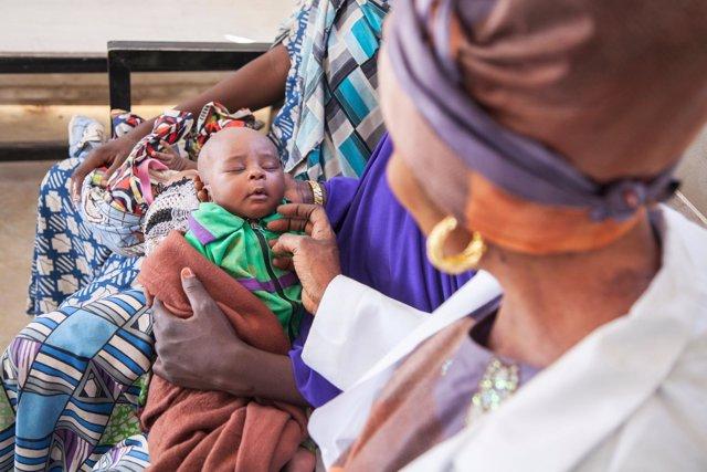 Un bebé en Nigeria