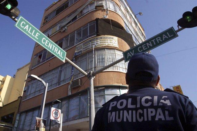 Policía en Chiapas, México