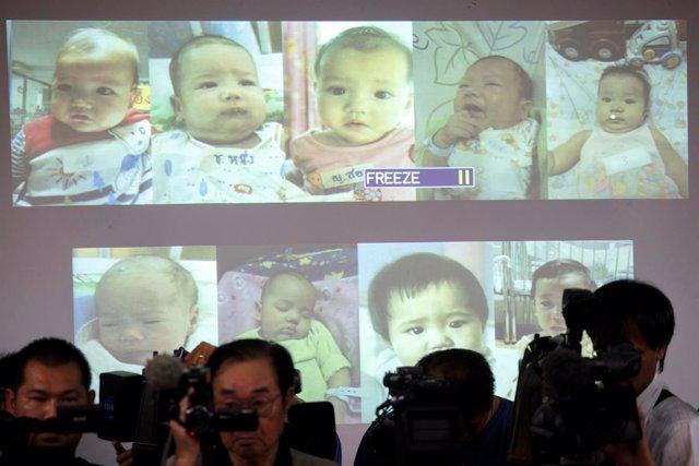 Bebés de gestación subrogada engendrados por un hombre de negocios japonés