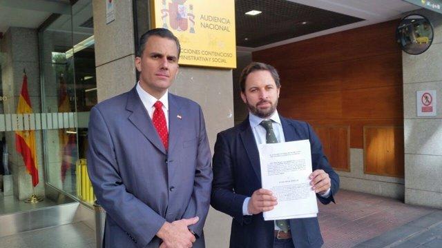 Santiago Abascal y Javier Ortega, de VOX