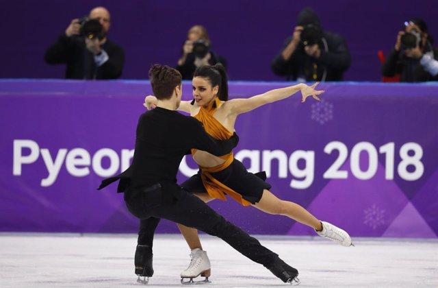 Sara Hurtado y Kirill Khaliavin en los Juegos de Pyeongchang
