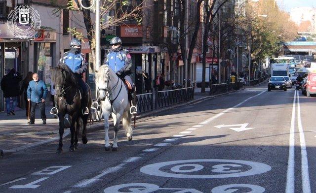 Policía Municipal de Madrid a caballo