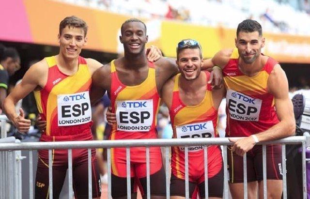 Equipo español de 4x400 metros