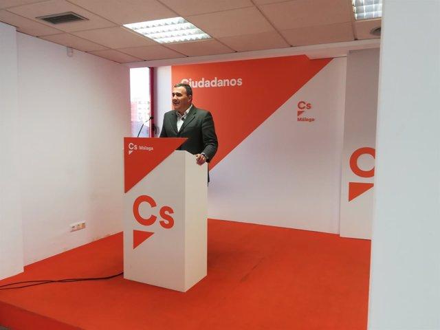 Carlos Hernández White parlamentario de Cs málaga Ciudadanos