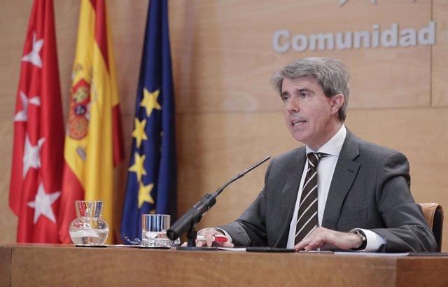 Garrido. Rueda De Prensa Posterior A La Reunión Del Consejo De Gobierno   Foto.