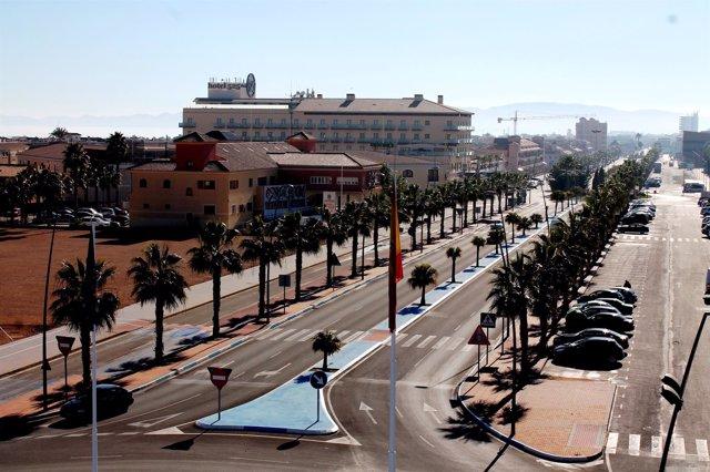 Avenida principal de Los Alcázares