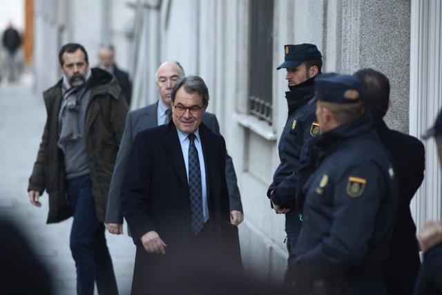 Artur Mas llega al Supremo para declarar por el procés