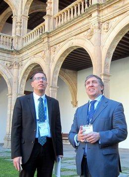 Salamanca.  García Hernández (derecha) en Salamanca