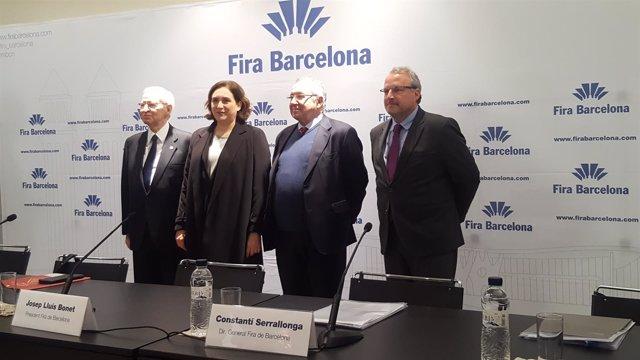 Miquel Valls, Ada Colau, Josep Lluís Bonet y Constantí Serrallonga
