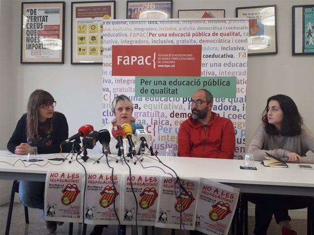 Rueda de prensa de Fapac con B.Tascon, R.Font y C.Latorre