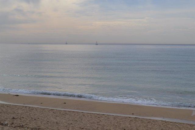 Arena, playa, mar, Platja de Palma