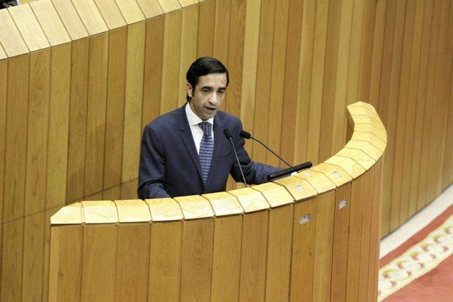 Rey Varela, en el Parlamento