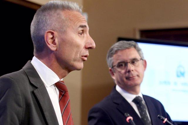 Miguel Ángel Vázquez y Juan Carlos Blanco, este martes