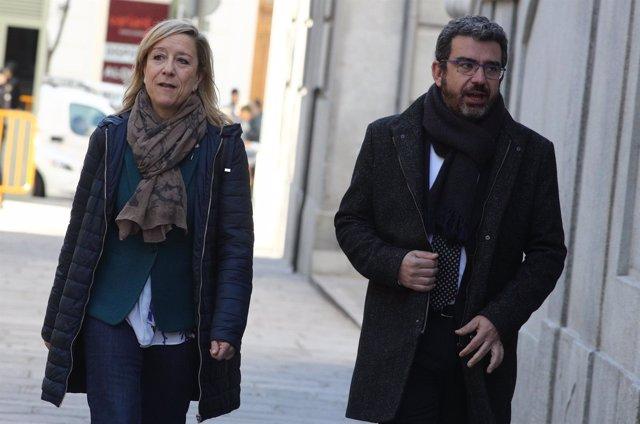 Neus Lloveras llega a declarar en el Supremo por el procés