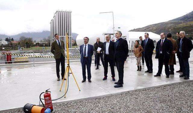Inauguración de la planta de gas natural licuado en Arenas de Iguña