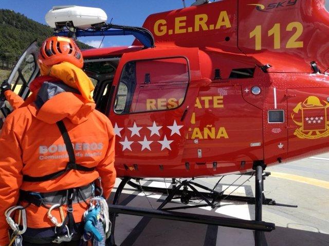 Helicóptero del GERA