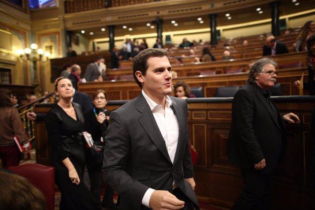 Albert Rivera en la sesión de control al Gobierno en el Congreso