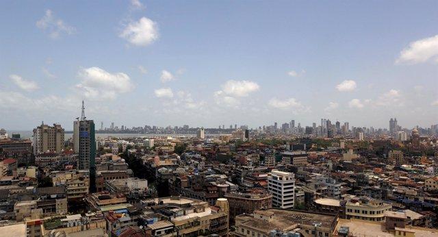 El horizonte en Bombay.
