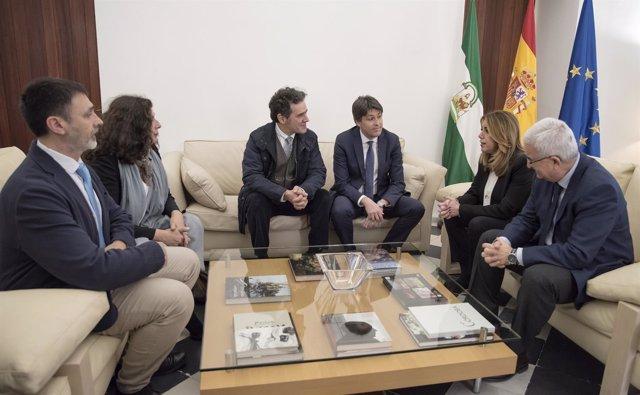 Reunión de Susana Díaz con Sociedad Civil Catalana
