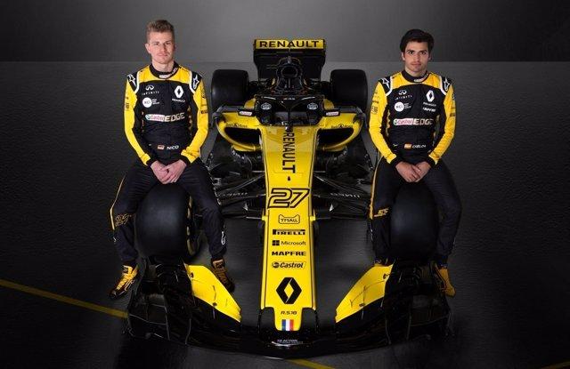 Carlos Sainz y Nico Hülkenberg con el nuevo Renault