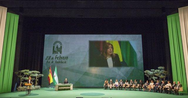 Entrega de las Medallas de Andalucía el 28-F de 2017