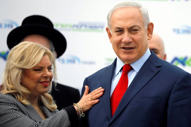 Benjamin Netanyahu y su mujer, Sara Netanyahu