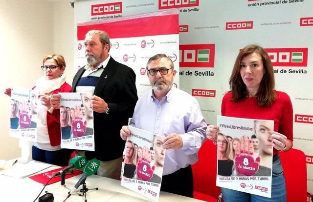 Los sindicatos presentan sus movilizaciones del 8 de marzo