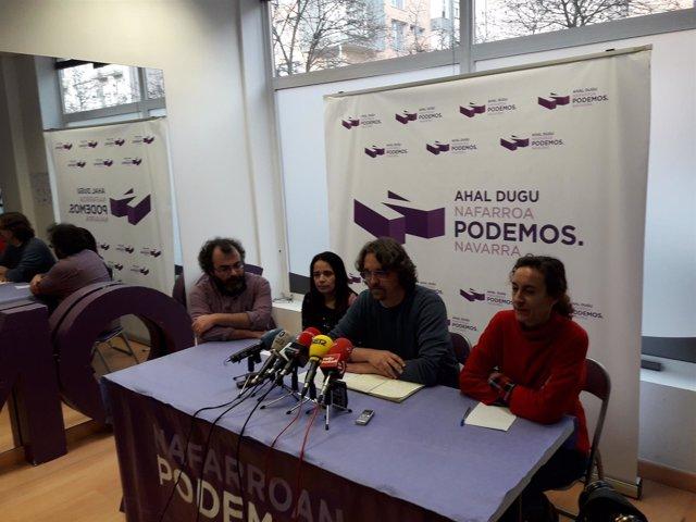 Daniel López, secretario de Organización de Podemos Navarra.