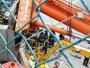 Rescatan en estado grave el operario de la grúa de grandes dimensiones que se cayó en el Puerto de Las Palmas