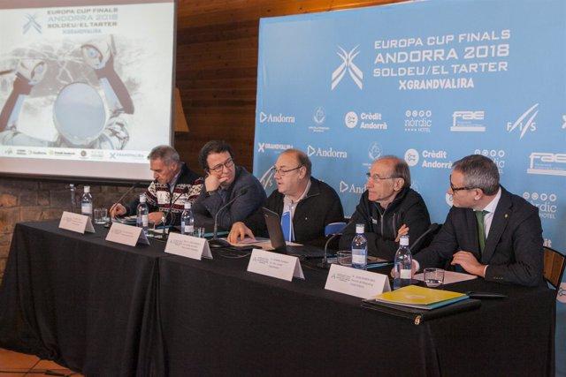 Presentación de la Copa de Europa de esquí alpino en Grandvalira