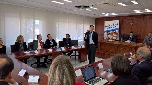 Imagen de la intervención del presidente de la Autoridad Portuaria