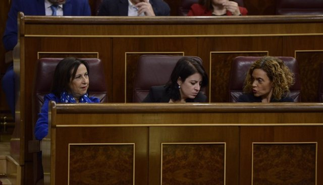 Margarita Robles, Adriana Lastra y Meritxell Batet