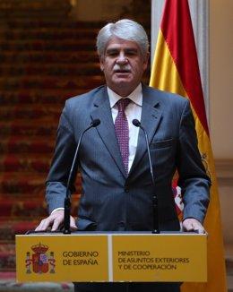 El ministro de Exteriores Alfonso Dastis