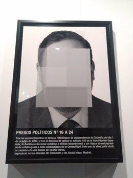 Montaje 'Presos políticos' ARCO Junqueras