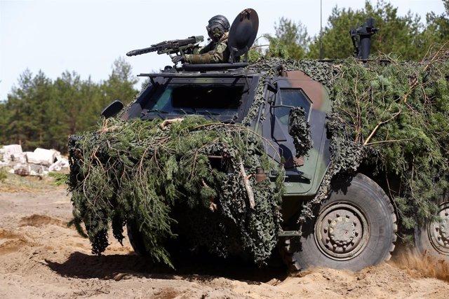 Maniobras de militares alemanes en Pabrade