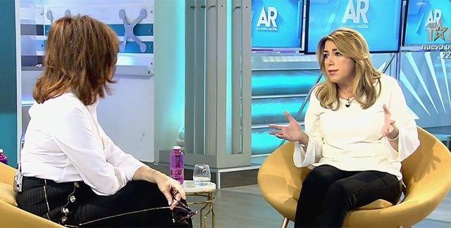 La presidenta de la Junta de Andalucía, Susana Díaz, entrevistada en Tele 5