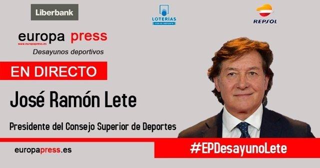 José Ramón Lete, en los Desayunos Deportivos de Europa Press
