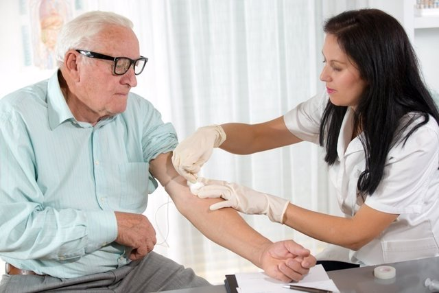 Analisis de sangre, hombre