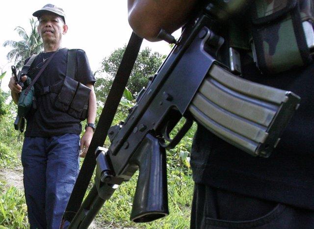 Foto de archivo de Gregorio Rosal, portavoz del Nuevo Ejército del Pueblo.