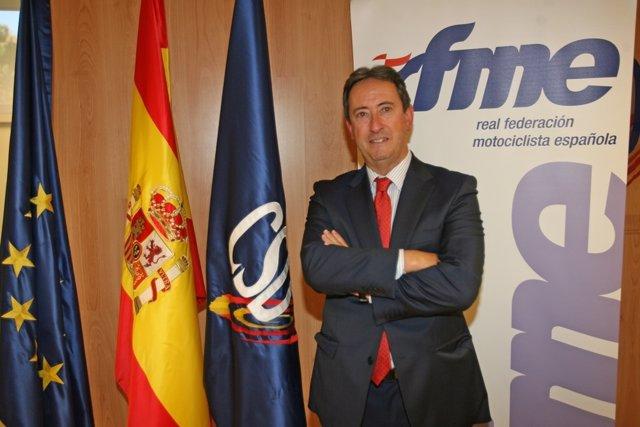 Manuel Casado, presidente de la Real Federación Motociclista Española