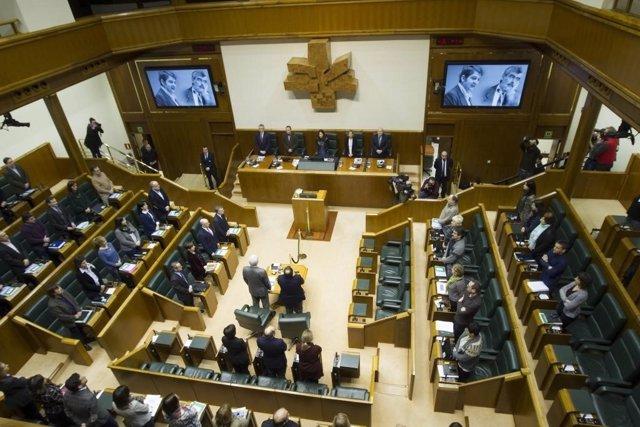 Homenaje Parlamento Vasco a Fernando Buesa y Enrique Casas