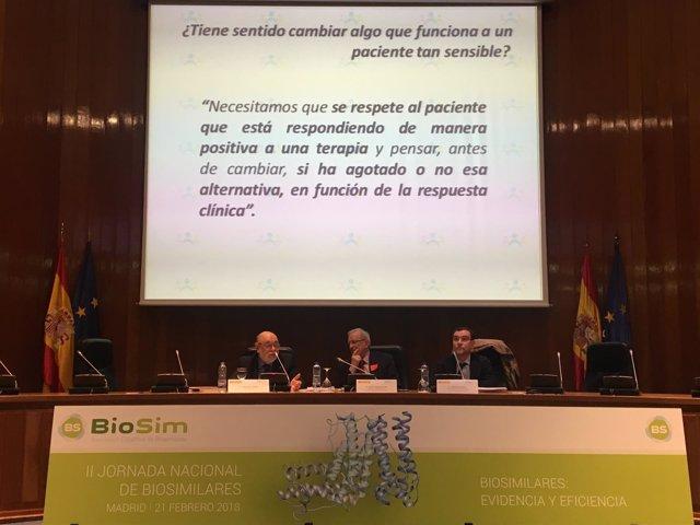 Alejandro Toledo en la II Jornada Nacional de Biosimilares