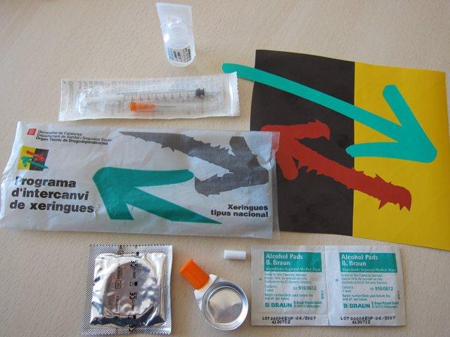 Programa d'Intercanvi de Xeringues. Drogodependientes, drogodependència.