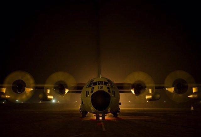 Avión de transporte Hércules del Ejército del Aire