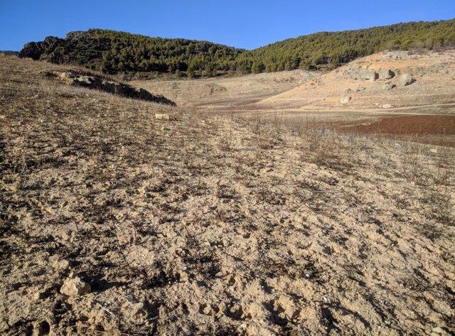 Un terreno yermo por efecto de la sequía